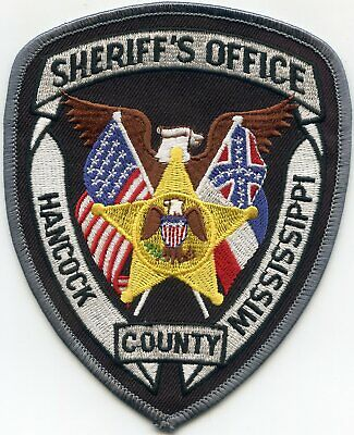 HANCOCK COUNTY MISSISSIPPI MS SHERIFF POLICE PATCH, used for sale  Atlanta