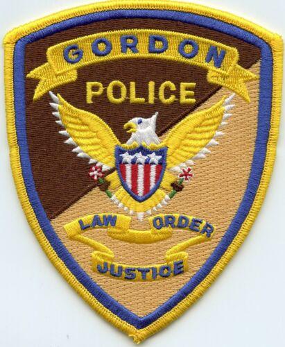 GORDON NEBRASKA NE Law Order Justice POLICE PATCH
