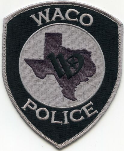 WACO TEXAS TX subdued gray POLICE PATCH