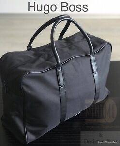 34b6a09a3e3 🆕💙💝💙Hugo Boss Mens Weekend Holdall Sports Gym Travel Bag Black NEW  SEALED