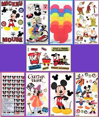 U CHOOSE Jolee's DISNEY Stickers Mickey Minnie Goofy Pluto 7 Dwarfs Alphabet -