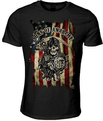 Sons of Anarchy T-Shirt Clothing Jax Biker Crime Outlaw Merchandise 753