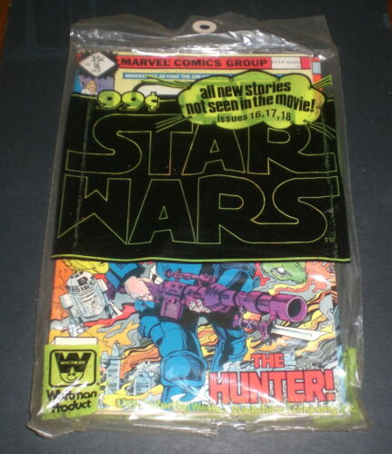 3 STAR WARS COMIC BOOKS WHITMAN BAGGED  - 16 17 18