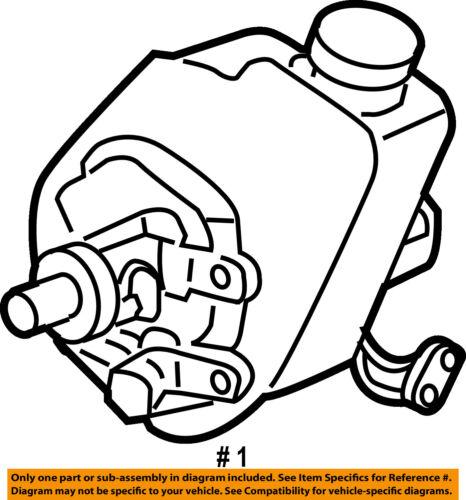 Gm Oem Power Steering Pump 15909826