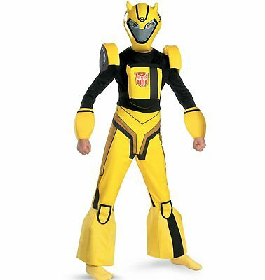 Transformers Deluxe Bumblebee Costume New Size 7-8 Medium Child](Kid Transformer Costume)