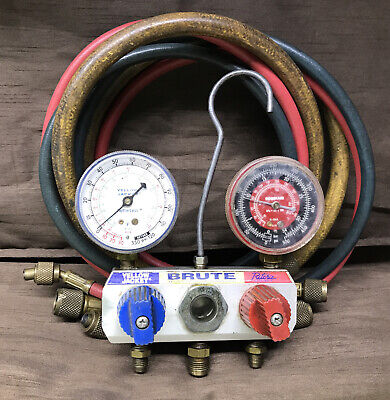 Yellow Jacket Brute Ac Manifold Gauges And Hoses Robinair