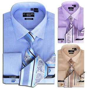 Mens dress shirt tie combo 15 5 16 5 17 5 18 5 19 5 20 5 for Dress shirts and tie combos sale