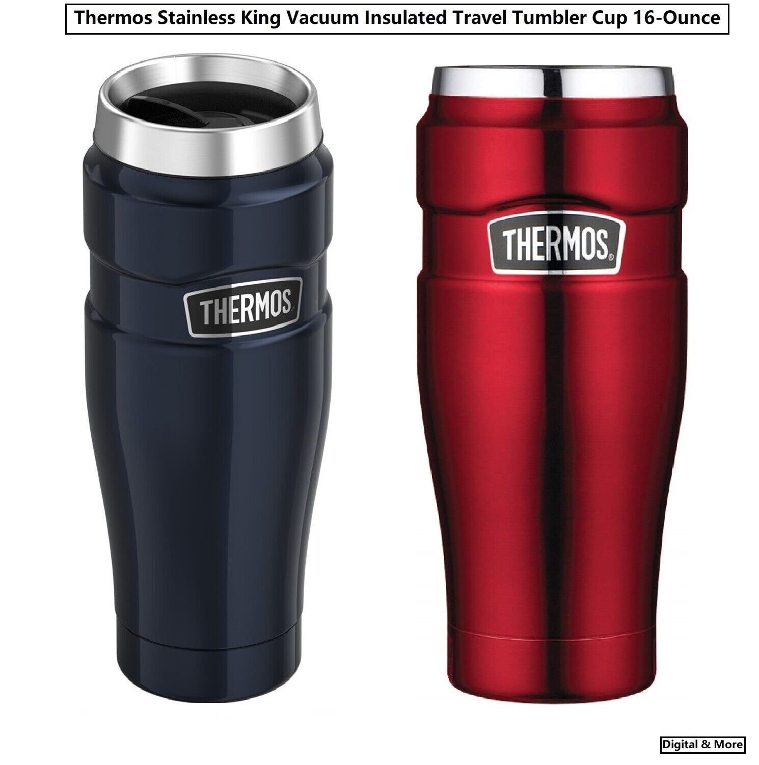 Genuine Thermos Stainless King Vacuum Insulated Travel Tumbl