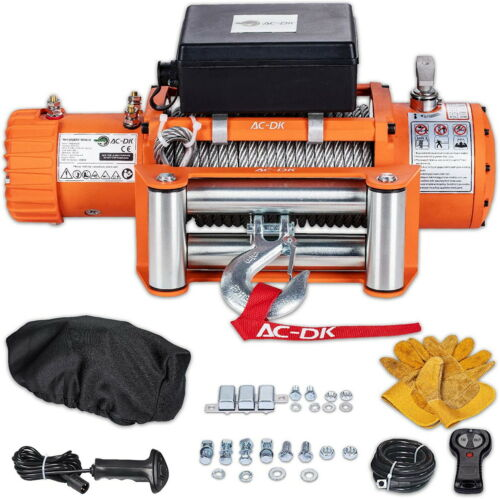 9500 lb. Load Capacity Electric Winch Kit 12V Steel Cable Truck Winch Waterproof