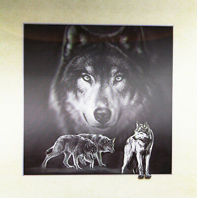 3D Lenticular Poster - Wolf Montage -16x16 Print
