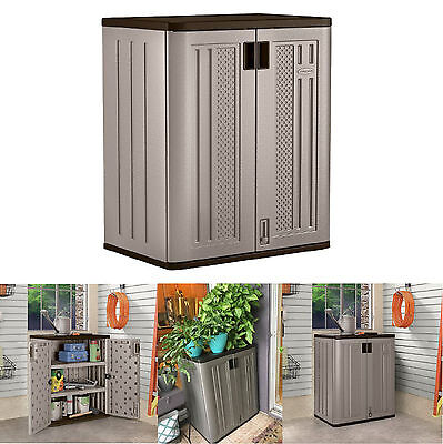 Outdoor Storage Cabinets Suncast Lawn Yard Patio Garden Deck Utility Shed S