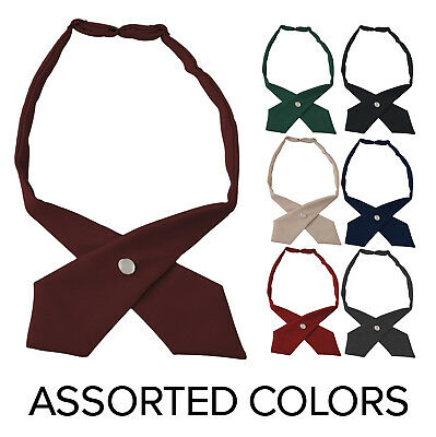 Girls Uniform (Girls Adjustable Cross Ties French Toast School Uniform ( Assorted Colors)