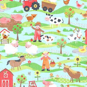 Essener-Tiny-Tots-g45130-Papel-pintado-Granja-Caballos-habitacion-infantil