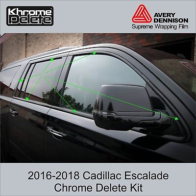 2016-2018 Cadillac Escalade Window Trim Chrome Delete Kit