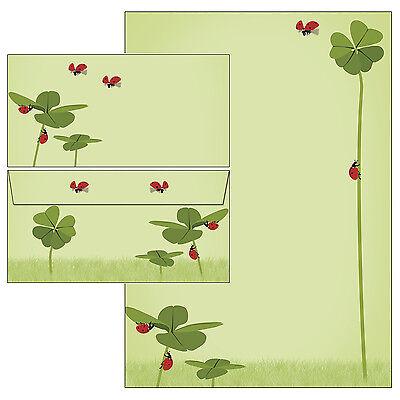 Symbole des Glücks Klee Motivpapier Briefpapier Mappe 20 Blatt A4 +20 Umschläge  ()