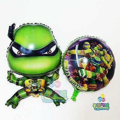 TMNT Teenage Mutant Ninja Turtles foil balloons round and shaped