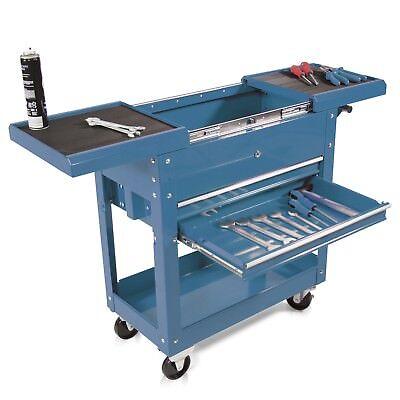 Montagewagen, Rollwagen Werkzeugwagen kugelgelagerte Werkstattwagen Etagen blau
