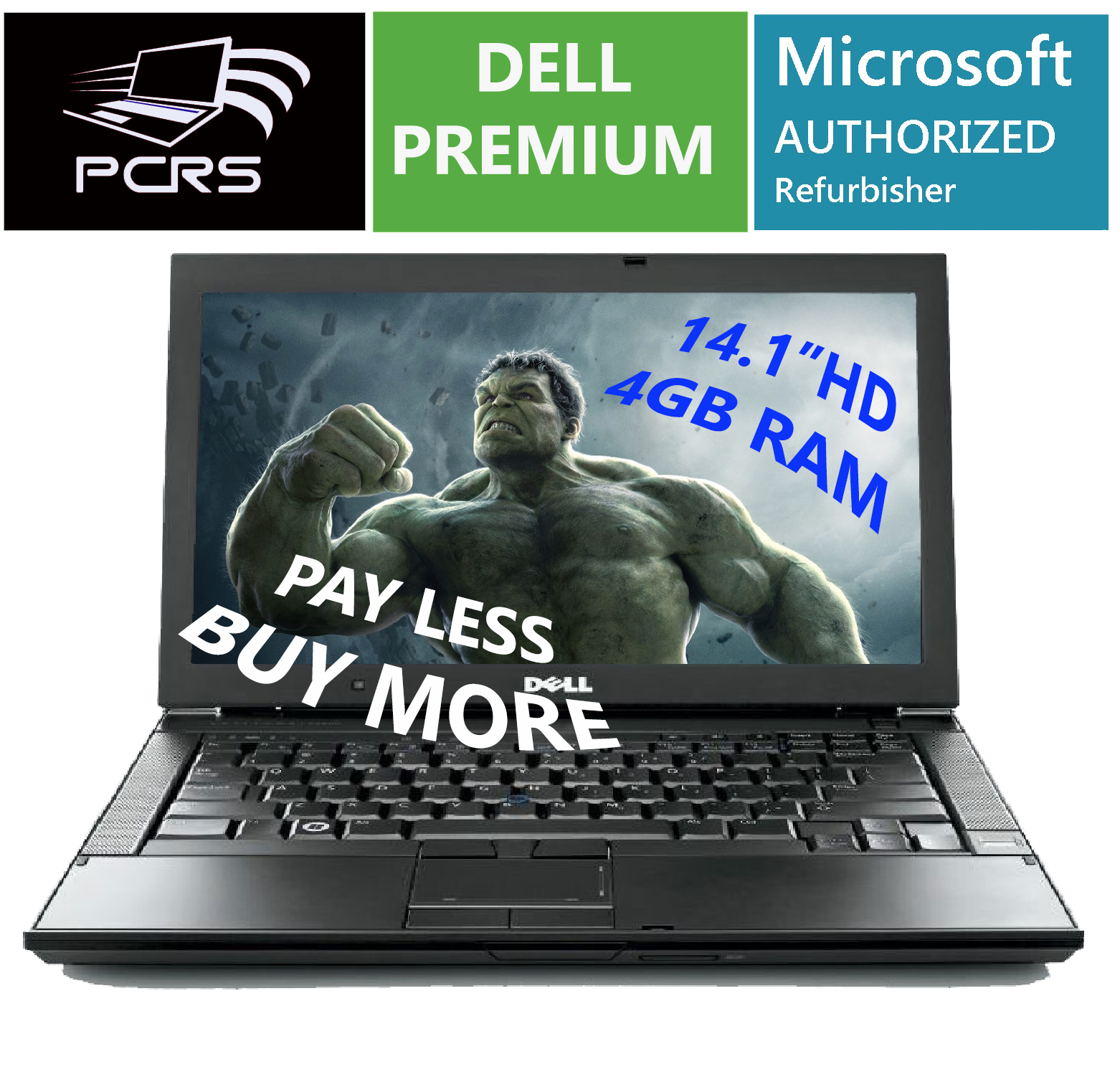 "Laptop Windows - DELL 14.1"" HD Latitude Laptop Intel Core Duo 2GHz 4GB RAM DVDRW WiFi Windows 10"