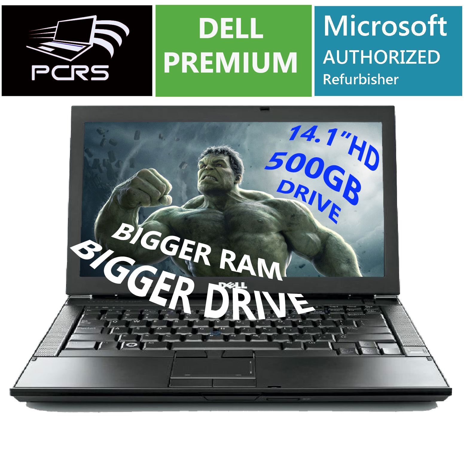 "Laptop Windows - DELL 14.1"" Latitude Laptop  Intel Core 2.4GHz 4GB RAM 500GB HDD DVDRW Windows 10"