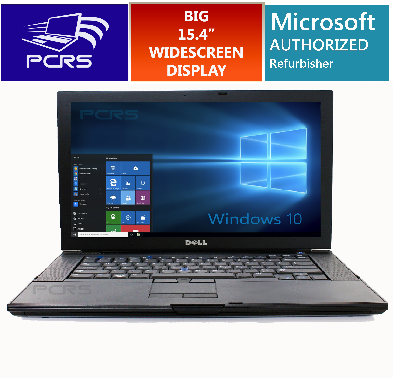 "Laptop - DELL LATiTUDE LAPTOP 15.4"" HD Widescreen Computer Windows 10 Intel Core Duo 2GHz"
