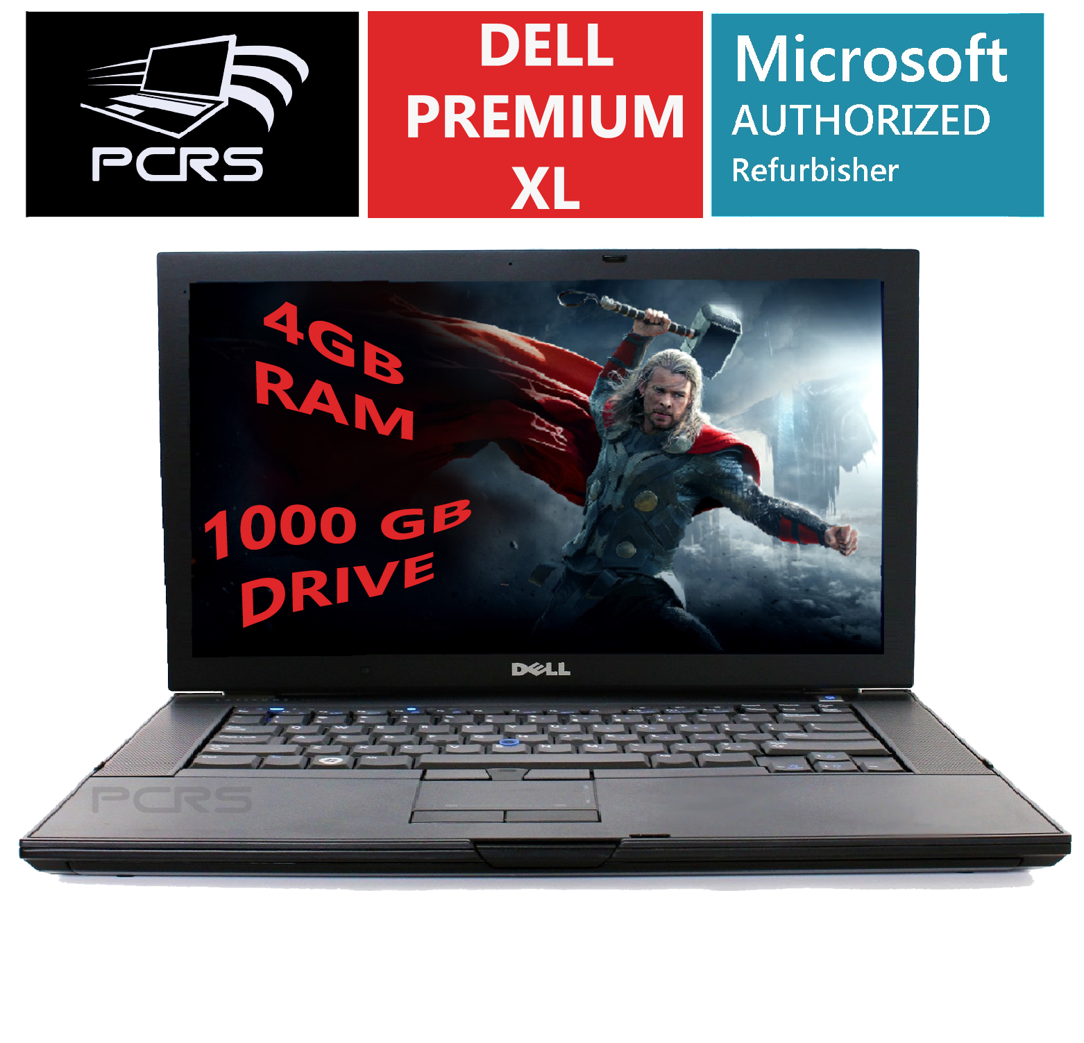 "Laptop Windows - DELL Latitiude 15.4"" HD Screen Laptop Intel 2.4GHz 4GB 1TB DVD+RW Windows 10"