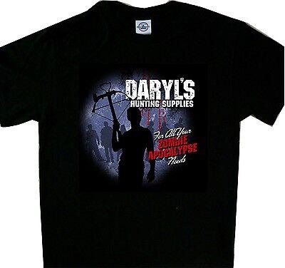 Daryl's Hunting Supplies Daryl Tee T'shirt Walking Zombie Apocalypse Dead (Zombie Supplies)
