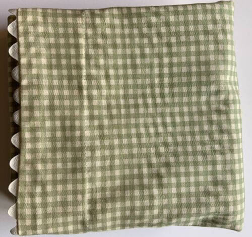 Waverly Garden Room Green Gingham Cottage Collection Two Standard Pillow Shams