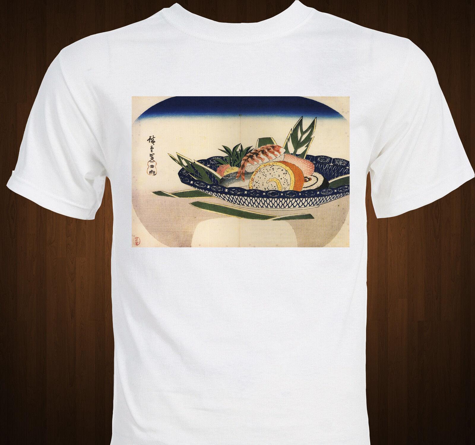 SUSHI ! – Japanese painting by Utagawa Hiroshige – Ukiyo-e foodie T-shirt