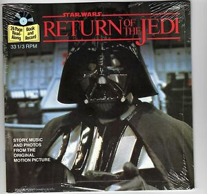 Star Wars Return of the Jedi Factory Sealed 24 Page Read-Along Book and Record