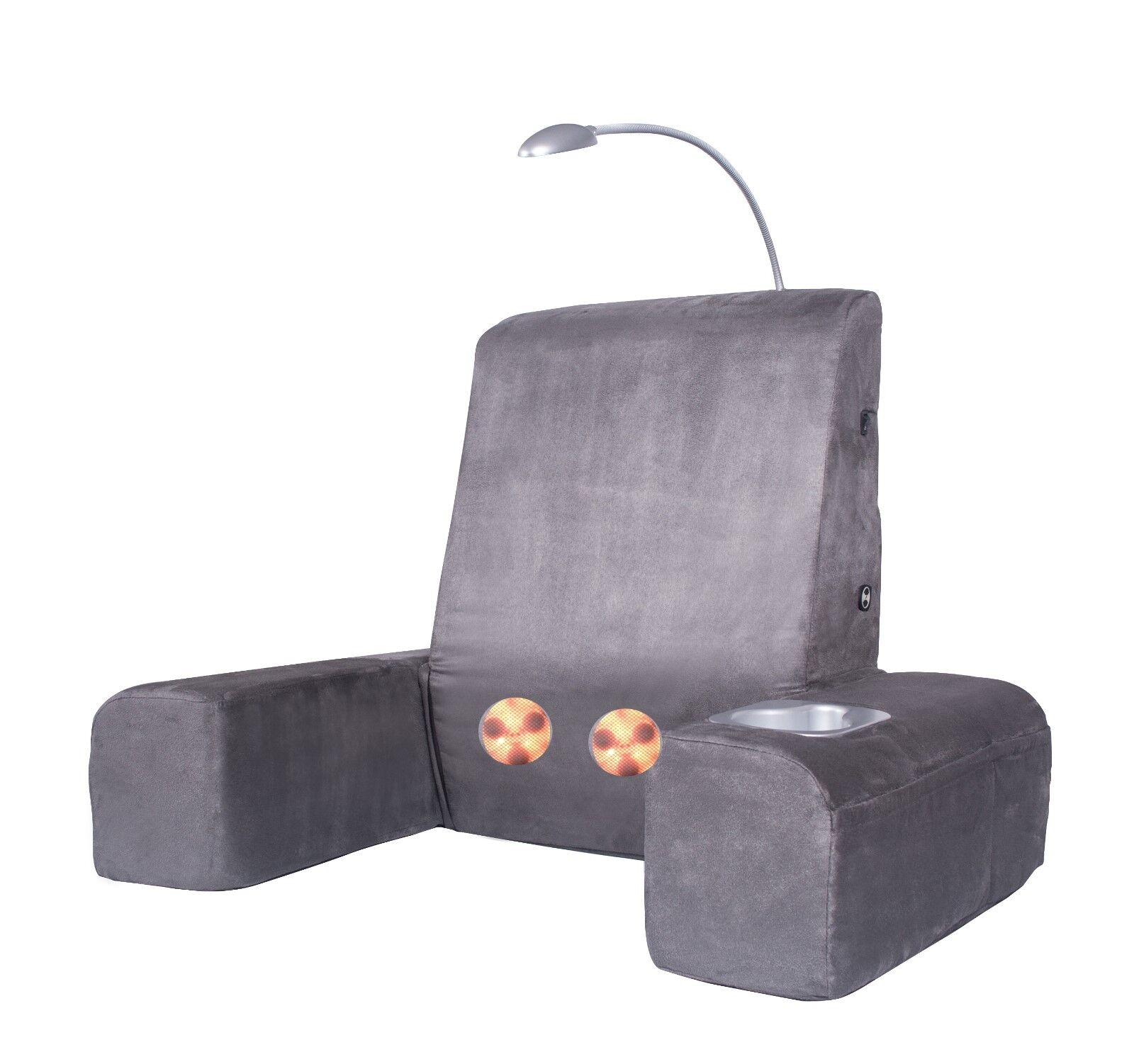 Carepeutic Back Rest Bed Lounger with Heated Comfort Shiatsu