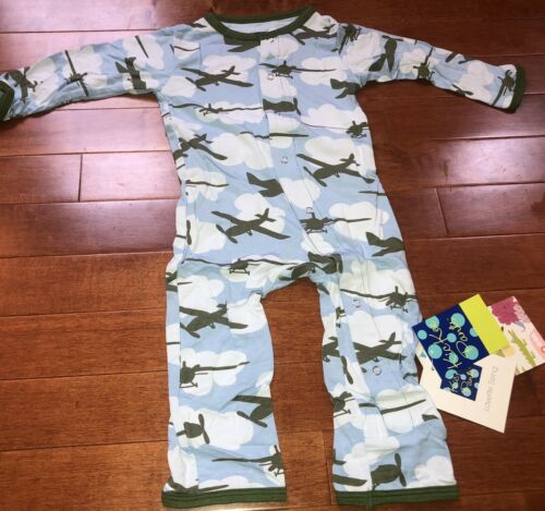 Kickee Pants Infant Boy Layette Sizing Pond Airplanes Covera