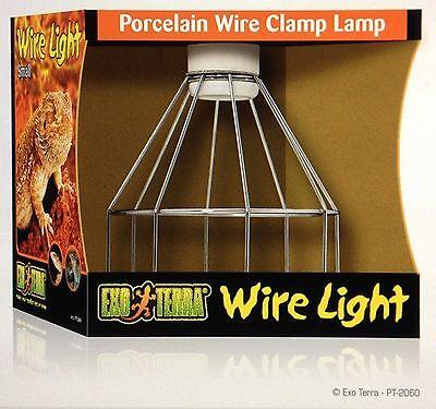 Exo Terra Small Wire Clamp Lamp Reptile Terrarium Habitat Porcelain Light Fixtur