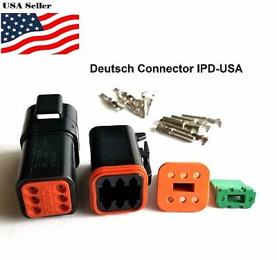 6-pin Deutsch Dt06 Engine Gearbox Waterproof Electrical Connector