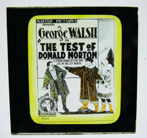Movie Glass Slide- 1926 George Walsh in The Test of Donald Norton RARE