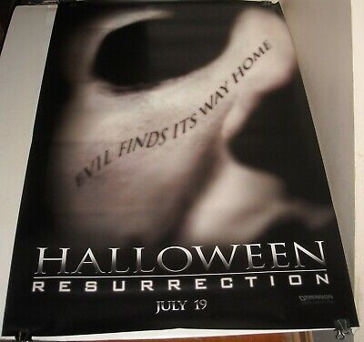 ROLLED 2001 HALLOWEEN RESURRECTION DOUBLE SIDED MOVIE POSTER ADVANCE HORROR