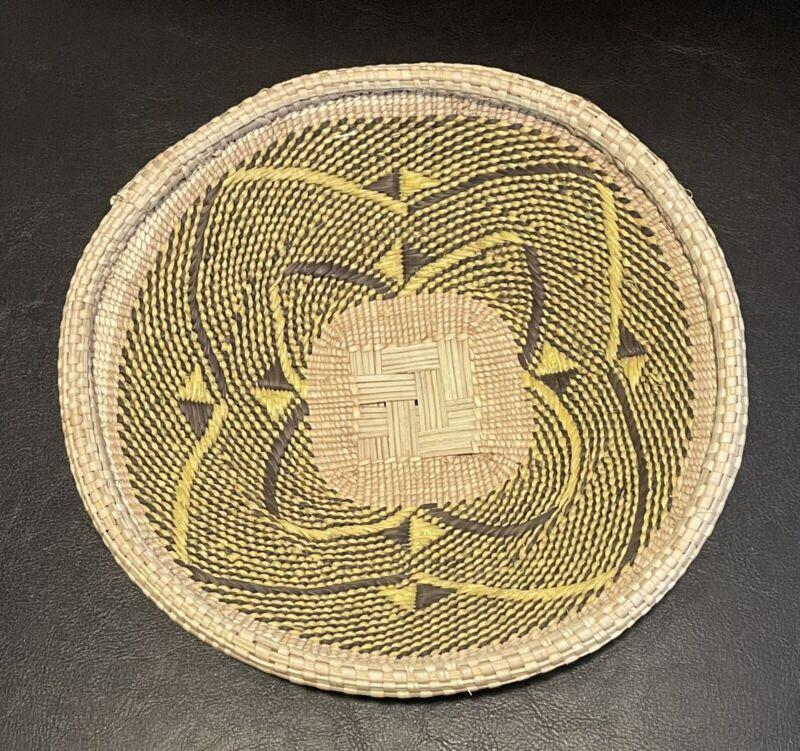 "Tonga Wall Décor/Basket African Art Zimbabwe 9"""