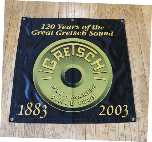 GRETSCH  DRUMS 120TH. ANNIVERSARY BANNER