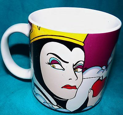 Disney Snow White Classic Animation Evil Queen Old Hag Poison Apple Coffee Mug