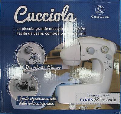 Macchina Da Cucire Portatile Coats Cucirini CUCCIOLA