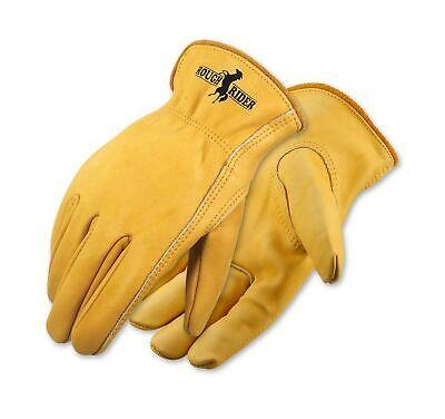 Galeton Rough Rider Premium Leather Driver Safety Work Gloves Gold Medium Pair