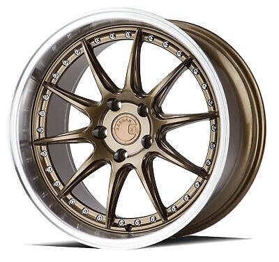 18x9.5 AodHan DS07 5x114.3 +30 Bronze Wheels (New Set)