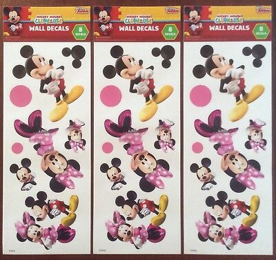 Minnie Stickers (3 Sets Disney Wall Decals Stickers Scrapbook Mickey & Minnie Mouse)