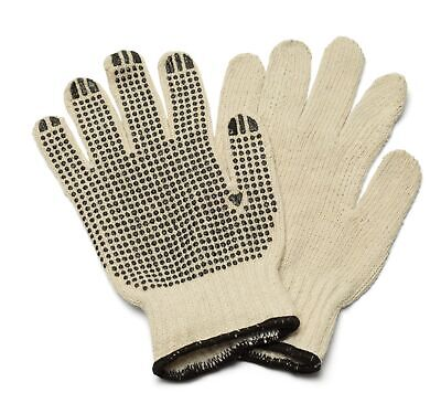 Cotton Pvc Single Dotted Work Gloves For Mens 12 Pairs