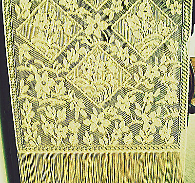 Chantilly Table Runner 14x84 Gold Lace Table Runner Heritage Lace NWT Chantilly Lace Runner