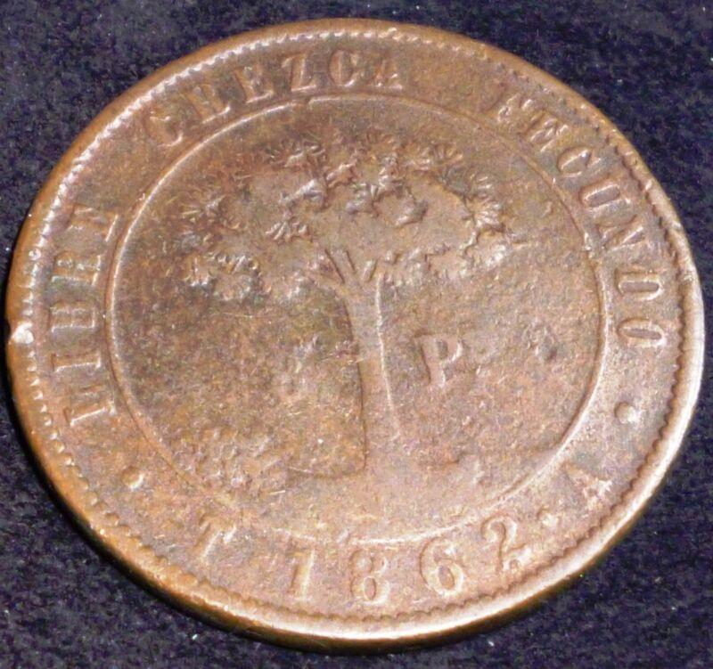 Honduras 8 Pesos KM# 27     1862