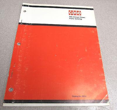 Case Wc Chisel Plow Plows Parts Catalog Manual B854 1970