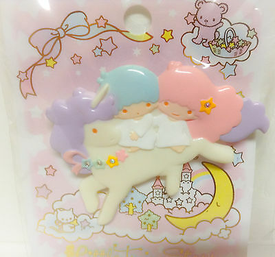 Little Twin Stars Art Deco Unicorn Large Collectible Pin Kawaii From Japan Rare
