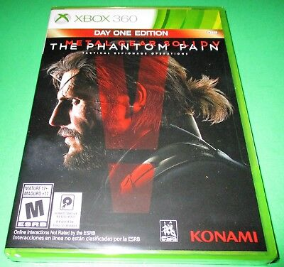 Metal Gear Solid V: The Phantom Pain - Day One Edition Xbox 360 *New *Free Ship
