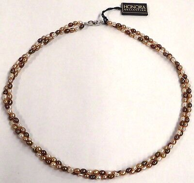 (Honora Cultured Freshwater Pearl 18-inch Double Twist Necklace BRAND NEW w/ TAG)
