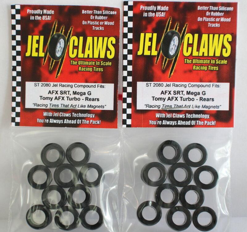 Jel Claws ST-2080 AFX/Tomy Mega-G,G+, SRT/TURBO R/Tires 10 pair / Free Shipping